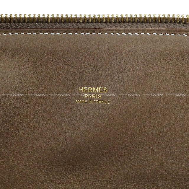 HERMES エルメス ハンドバッグ ボリード31 エトープ (エトゥープ) トリヨン ゴールド金具 新品