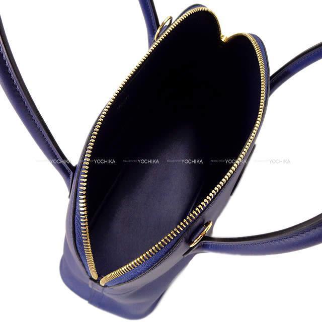 HERMES エルメス ショルダーバッグ ボリード27 ブルーアンクル(ブルーインク) スイフト ゴールド金具 新品