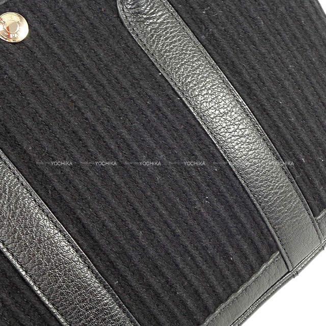 HERMES エルメス ハンドバッグ ガーデンプリーツ 30 TPM 黒 カヌレ(フェルト) SAランク【中古】