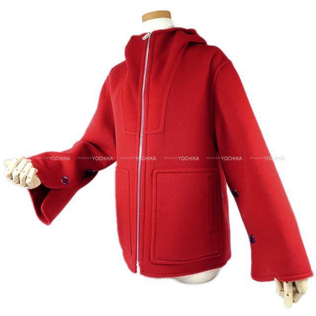 HERMES エルメス レディース  フード ダブルフェイス ショートジャケット #34 新品未使用