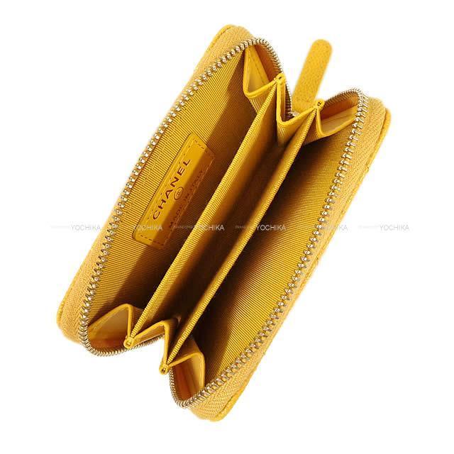 CHANEL シャネル マトラッセ  コイン カードケース イエロー キャビアスキン A84511 新品未使用