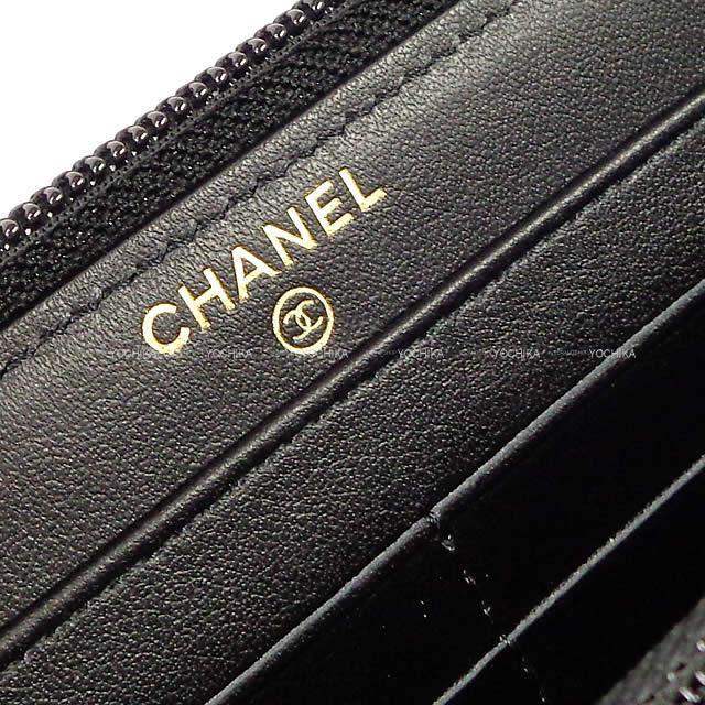 CHANEL シャネル ボーイシャネル マトラッセ ラウンドファスナー 長財布 黒 A80288 新品