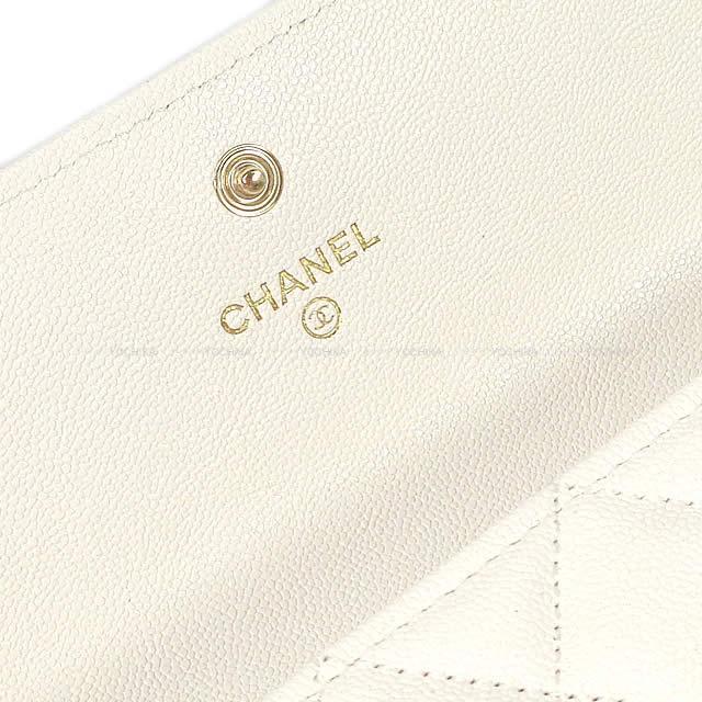 CHANEL シャネル ボーイシャネル マトラッセ フラップ 長財布 白(ホワイト) A80286 新品