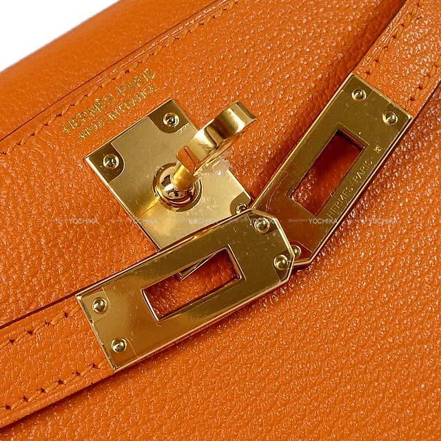 HERMES エルメス ショルダーバッグ ケリー ミニ ドゥ ケリー 2 外縫い アプリコット シェーブル ゴールド金具 新品