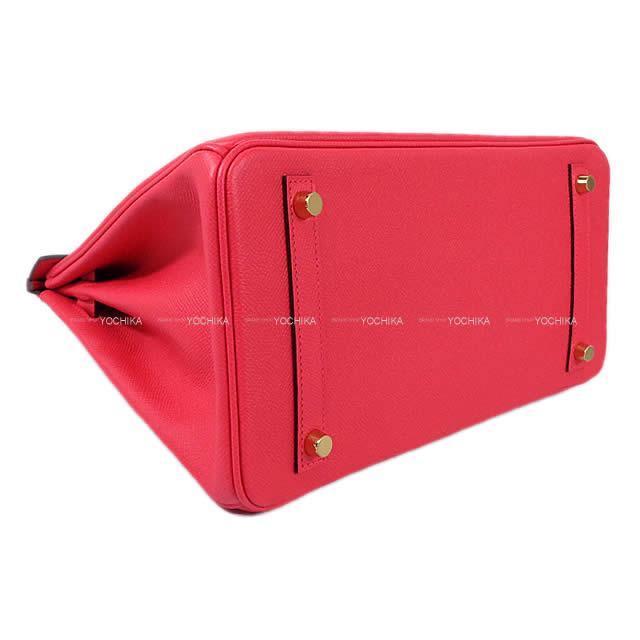 HERMES エルメス ハンドバッグ バーキン30 ローズエクストリーム(ローズエクストレーム) エプソン ゴールド金具 新品
