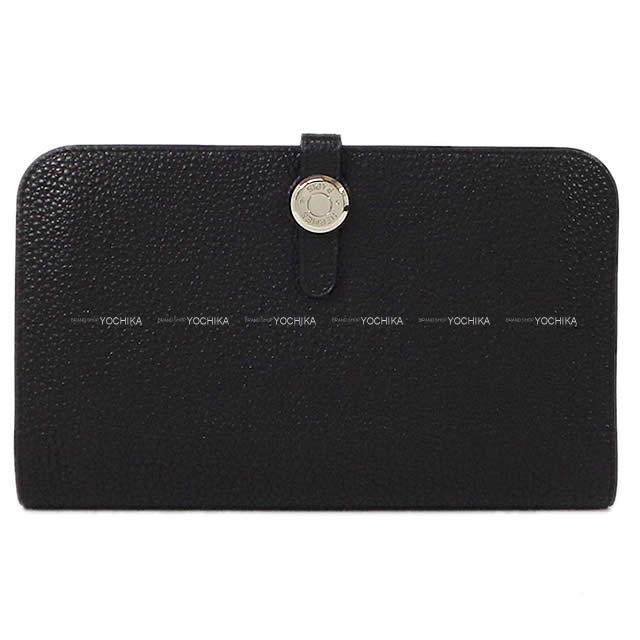 HERMES エルメス ドゴン GM 財布 黒(ブラック) トゴ シルバー金具 X刻印 新品