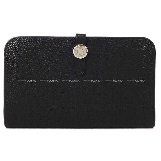 HERMES エルメス ドゴン GM 財布 黒(ブラック) トゴ シルバー金具 新品未使用