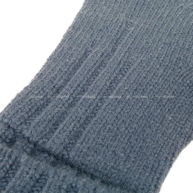 HERMES エルメス メンズ ニット 手袋 グローブ #S ブルートンペット カシミア100%  新品
