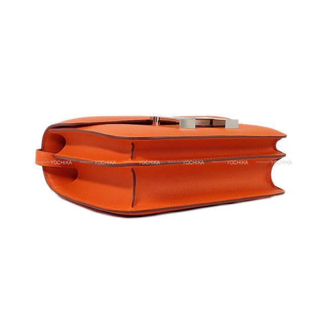 HERMES エルメス ショルダーバッグ コンスタンス 3 ミニ 18 フーオレンジ エプソン シルバー金具 新品