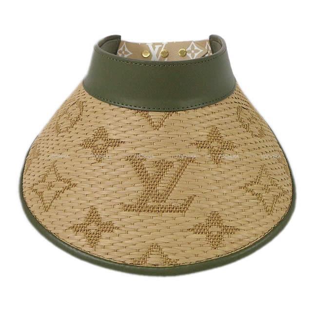 LOUIS VUITTON ルイ ヴィトン サンバイザー 帽子 ビジエール ストローグラム カーキ M73354 新品未使用