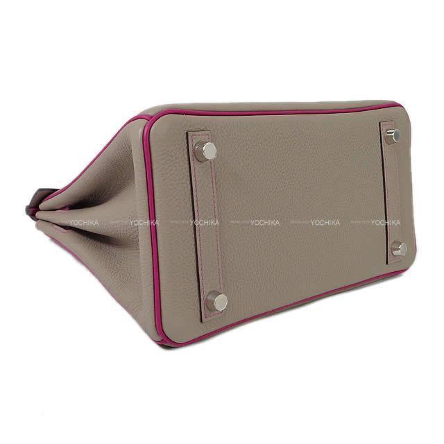 HERMES エルメス ハンドバッグ バーキン25 スペシャルオーダー グリアスファルト/ローズパープル トゴ  新品