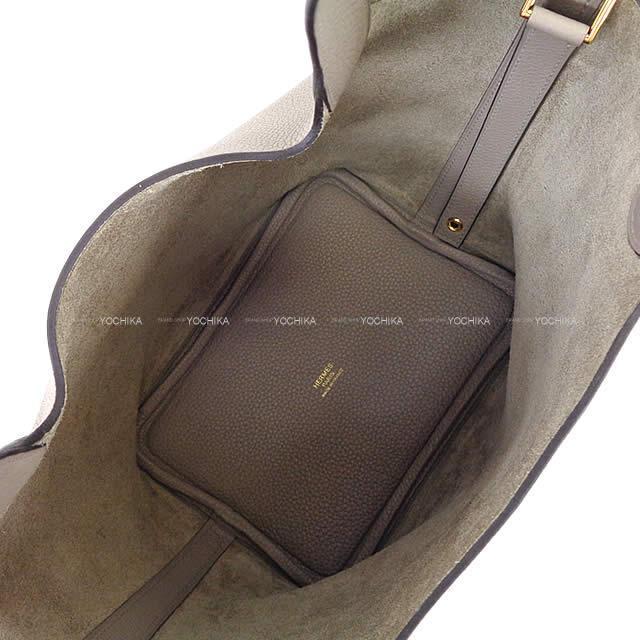 エルメス ハンドバッグ ピコタンロック 18 PM グリアスファルト トリヨンモーリス ゴールド金具 新品