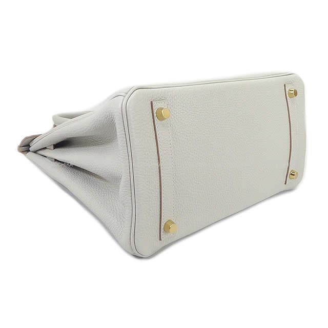 HERMES エルメス ハンドバッグ バーキン30 グリスパール(パールグレー) トリヨン シルバー金具 新品