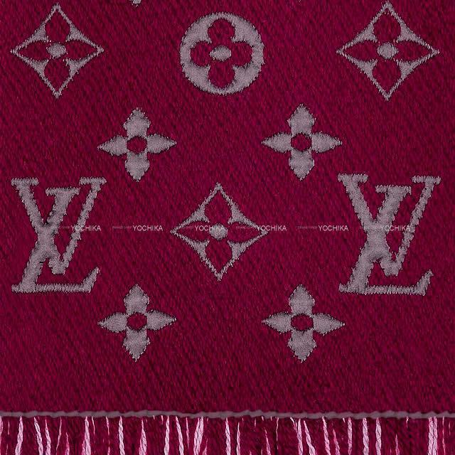 ルイ・ヴィトン マフラー エシャルプ・ロゴマニア デュオ ブルー/白 M71839 新品