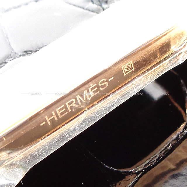 HERMES エルメス 長財布 コンスタンス ロング 黒(ブラック) クロコダイルアリゲーターシャイニー ローズゴールド金具 新品未使用