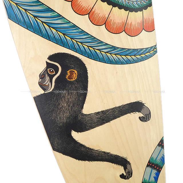 """HERMES エルメス スケートボード ロング """"サバンナのダンス"""" ナチュラル/マルチカラー メープルウッド 新品"""