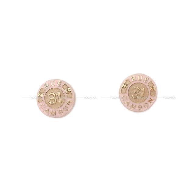 CHANEL シャネル カンボン サークル ピアス ピンク/ゴールド AB1066 新品