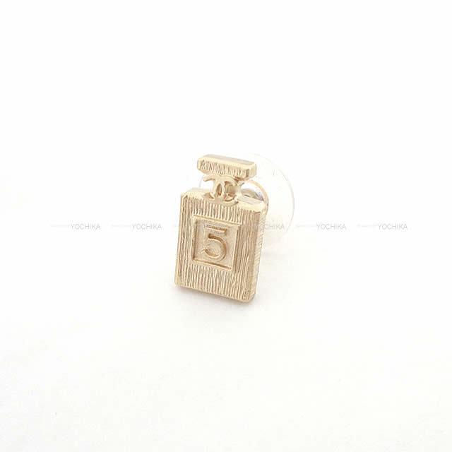 CHANEL シャネル No.5 パヒュームボトル 香水 ピアス ゴールド AB3064 新品