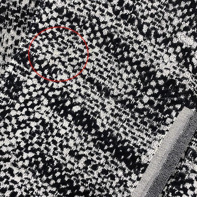 CHANEL シャネル ツィード風 ドルマン ケープ ポンチョ ジャケット #34/36 白/黒 コットン 新品同様【中古】