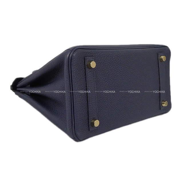 HERMES エルメス ハンドバッグ バーキン25 ブルーニュイ トゴ ローズゴールド金具 新品