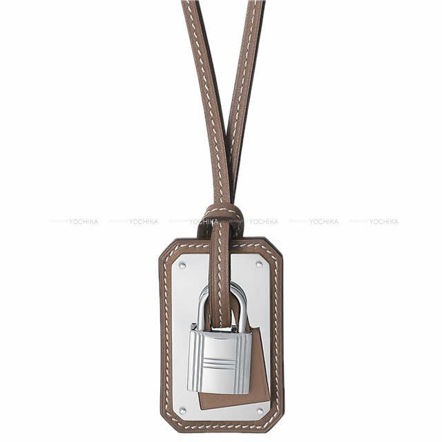 HERMES エルメス ペンダント ネックレス カデナ型 オーケリー エトープ(エトゥープ) スイフト シルバー金具 新品