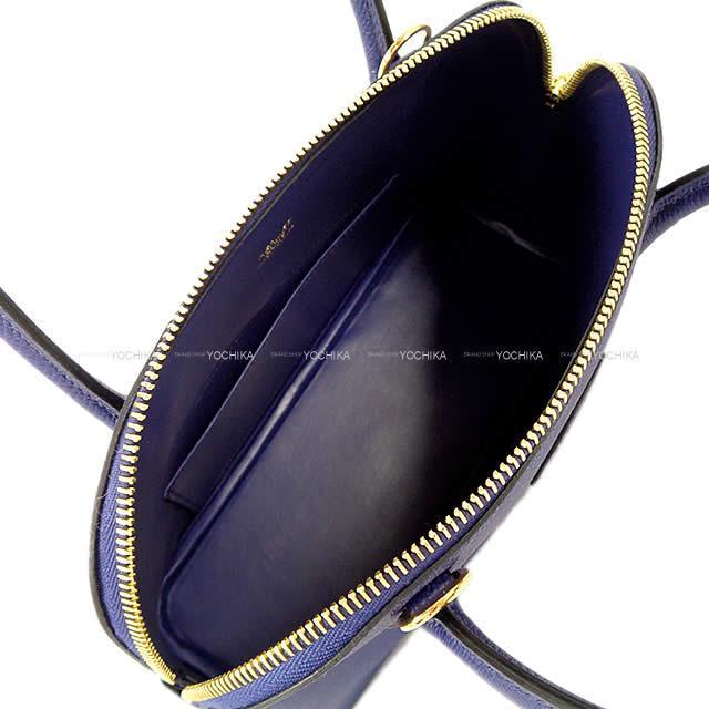 HERMES エルメス ショルダーバッグ ボリード27 ブルーアンクル(ブルーインク) エプソン ゴールド金具 新品