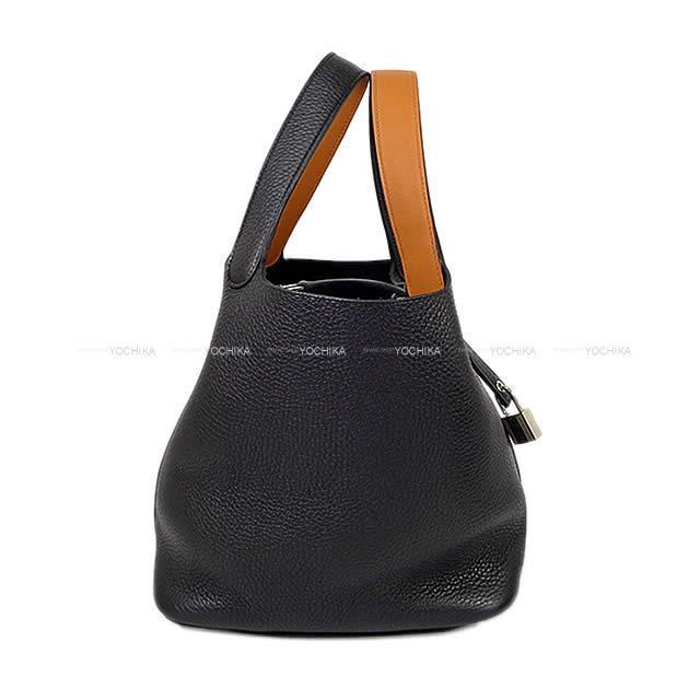HERMES エルメス ハンドバッグ ピコタンロック エクラ 22 MM 黒(ブラック)Xトフィー トリヨンXスイフト シルバー金具 新品未使用