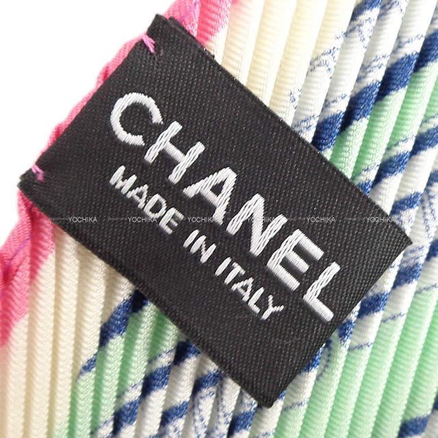CHANEL シャネル ココマーク スカーフ マトラッセ バッグモチーフ 白 14S 新品未使用