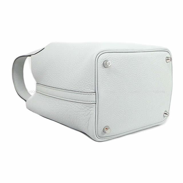 HERMES エルメス ハンドバッグ ピコタンロック 18 PM ブルーペール トリヨン シルバー金具 展示新品