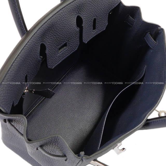 HERMES エルメス ハンドバッグ バーキン25 ブルーニュイ トゴ シルバー金具 展示新品