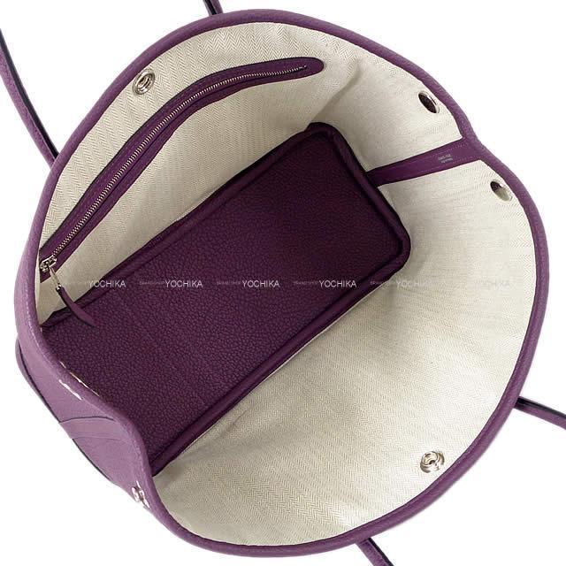 HERMES エルメス トートバッグ ガーデンパーティ 30 TPM カシス ネゴンダ シルバー金具 新品