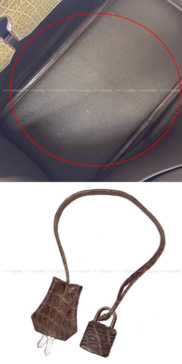 HERMES エルメス ハンドバッグ バーキン40 黒(ブラック) クロコダイル ニロティカス マット シルバー金具 新品未使用