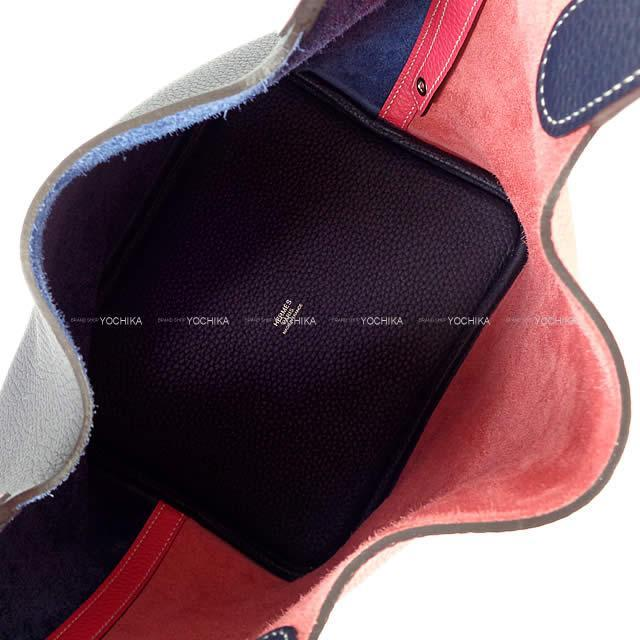 HERMES エルメス ハンドバッグ ピコタンロック カザック 22 MM ローズエクストリームXブルーニュイ トリヨン 新品