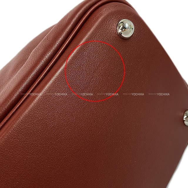 HERMES エルメス ボリードリラックス35 ルージュアッシュ ヴォー・シキム シルバー金具 新品未使用