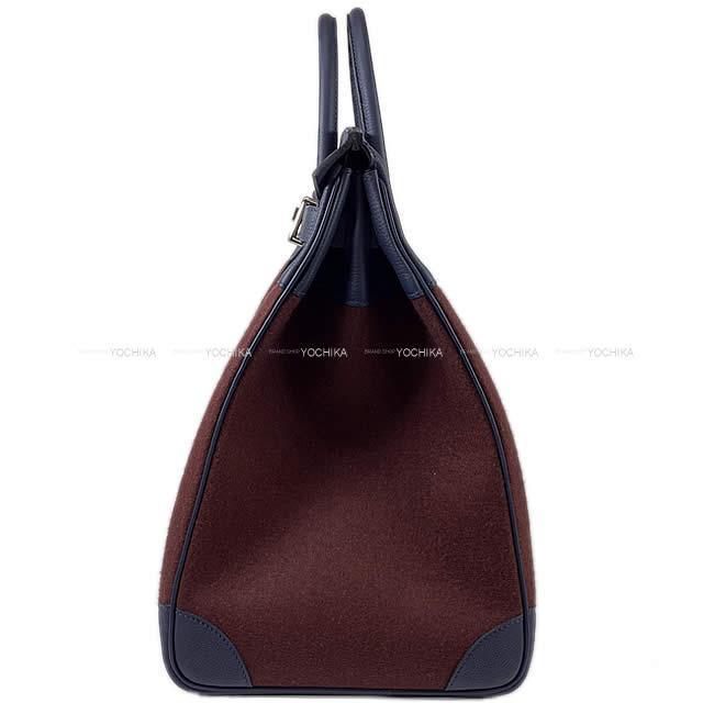 HERMES エルメス バッグ オータクロア 40 ブルーニュイ/ボルドー トゴ/フェルト シルバー金具 新品未使用