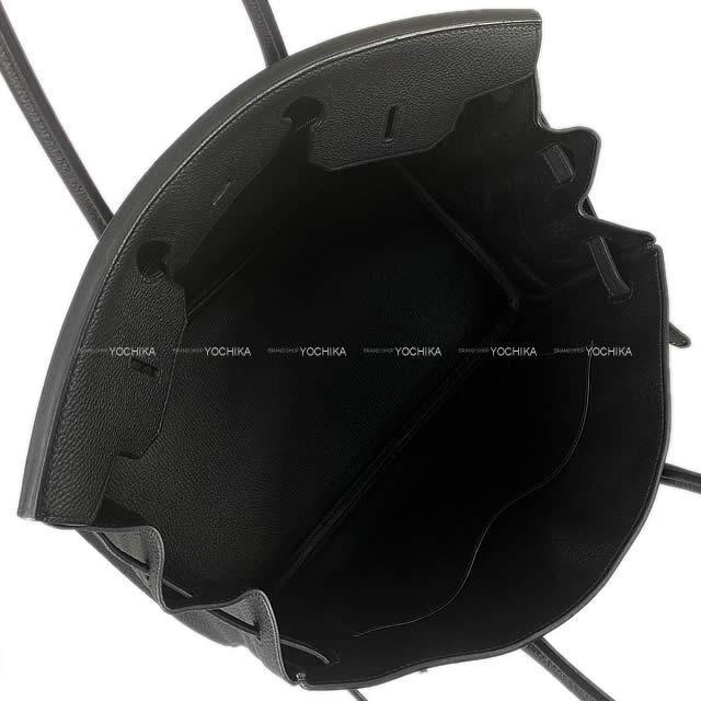 HERMES エルメス ハンドバッグ バーキン35 黒 トゴ ゴールド金具 新品同様【中古】