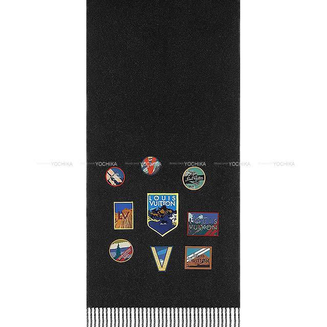 LOUIS VUITTON ルイ・ヴィトン マフラー エシャルプ シティアルプス 黒/グレー ウール M71096 新品未使用