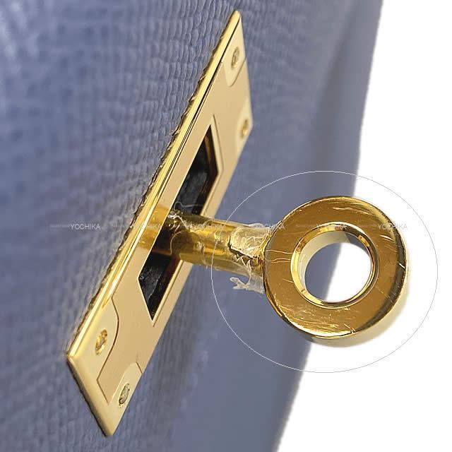 HERMES エルメス ハンドバッグ ケリー28 外縫い ブルーブライトン エプソン ゴールド金具 新品未使用