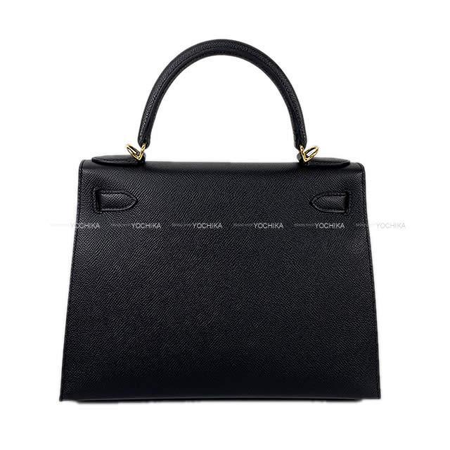 HERMES エルメス ハンドバッグ ケリー28 外縫い 黒 (ブラック) エプソン ゴールド金具 新品