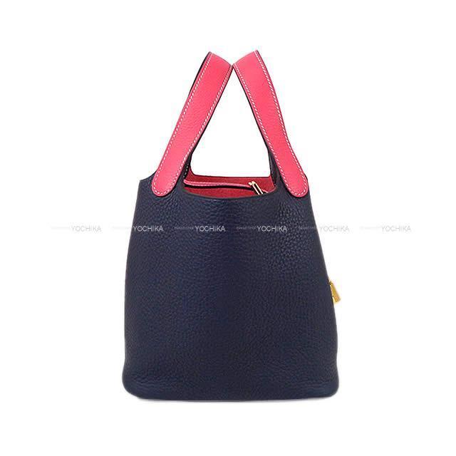 エルメス ハンドバッグ ピコタンロック 18 PM カザック ヴェールボスフォール/ディープブルー トリヨン 新品