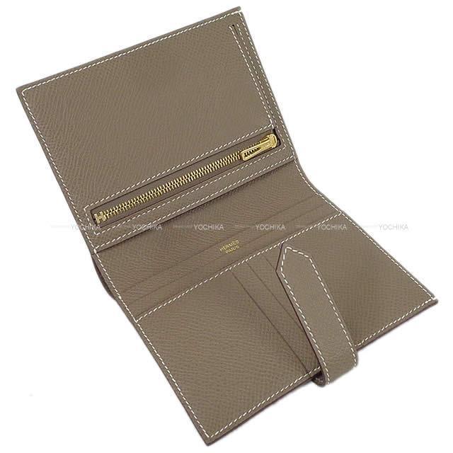 HERMES エルメス 財布 ベアン コンパクト エトープ (エトゥープ) エプソン シルバー金具 新品未使用