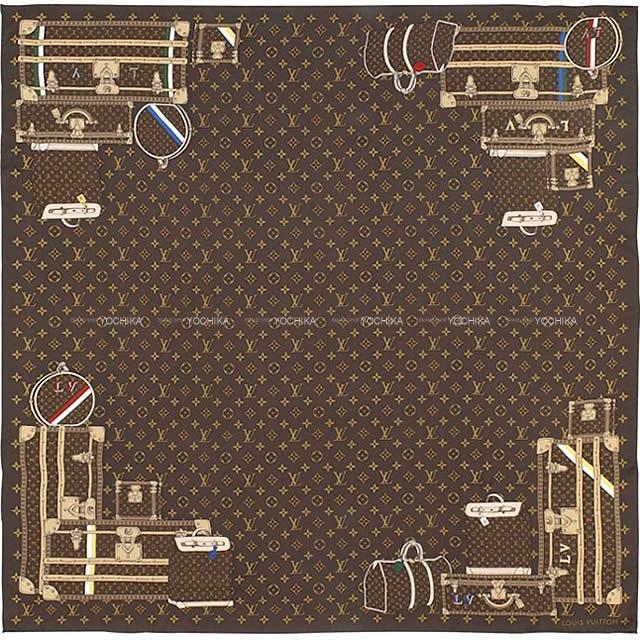 LOUIS VUITTON ルイ・ヴィトン ''カレ モノグラム トランク'' スカーフ M72233 新品未使用