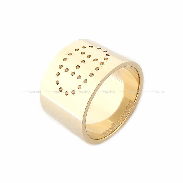 HERMES エルメス スカーフリング Hパンチング エヴリン パルマブラス シャンパンゴールド金具 新品未使用