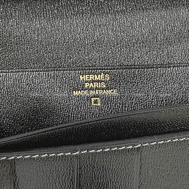 HERMES エルメス 長財布 ベアンスフレ グラファイト クロコダイル アリゲーター ゴールド金具 新品