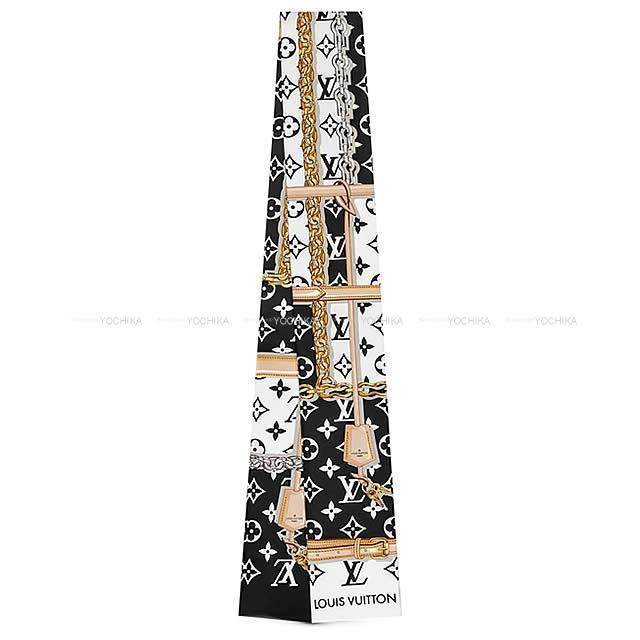 LOUIS VUITTON ''バンドー モノグラム コンフィデンシャル'' 黒 シルク100% M78656 新品