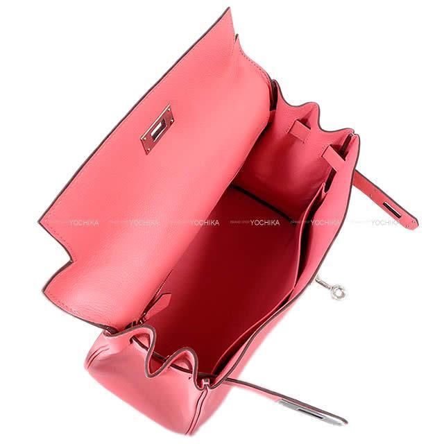 HERMES エルメス ハンドバッグ ケリー28 内縫い ローズアザレ スイフト シルバー金具 新品