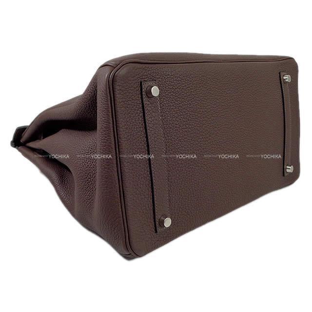 HERMES エルメス ハンドバッグ バーキン35 ショコラ トゴ シルバー金具 新品