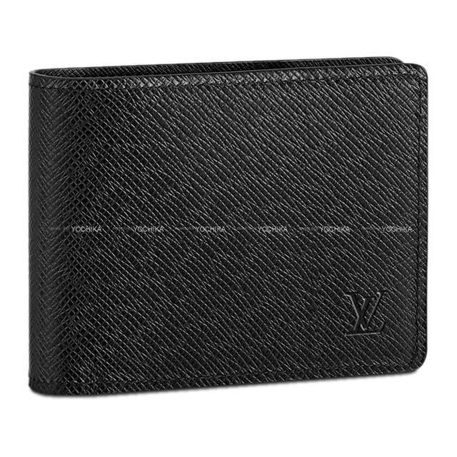 LOUIS VUITTON ルイ・ヴィトン サークル 二つ折り財布 ポルトフォイユ・ミュルティプル ノワール(黒) タイガ M30531 新品