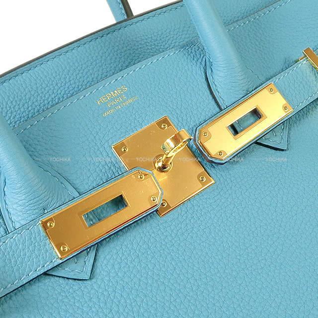 HERMES エルメス ハンドバッグ バーキン30 ブルーデュノール トゴ ゴールド金具 展示新品