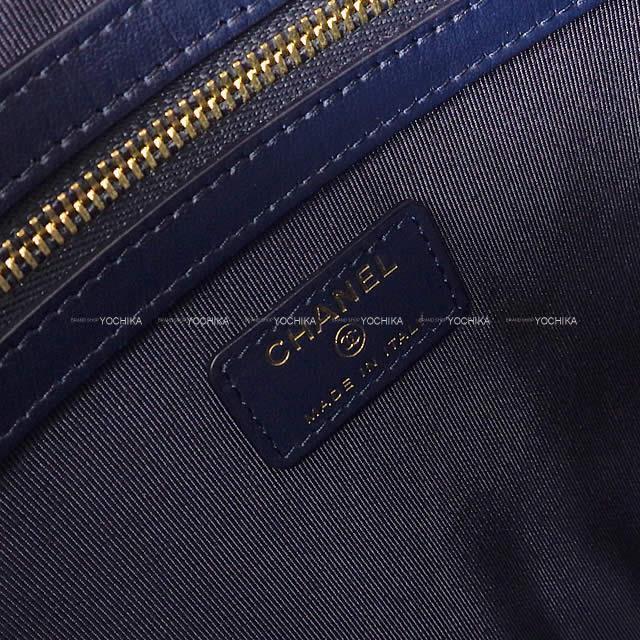 シャネル ステッチ ココマーク マトラッセ ポーチ付 チェーン ポシェット バッグ ブルー デニム AP1017 新品